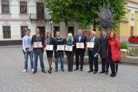 Живий надпис на підтримку 'ЄВРО-2012'